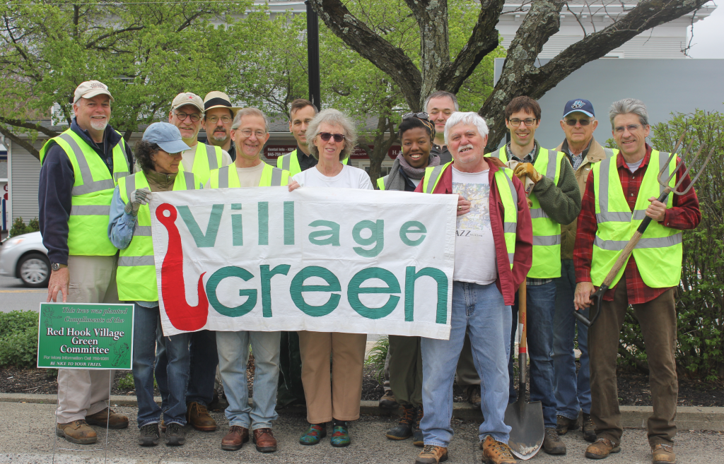 Brenda's at center, wearing sunglasses, with other members of the proud Red Hook Village Green Committee.