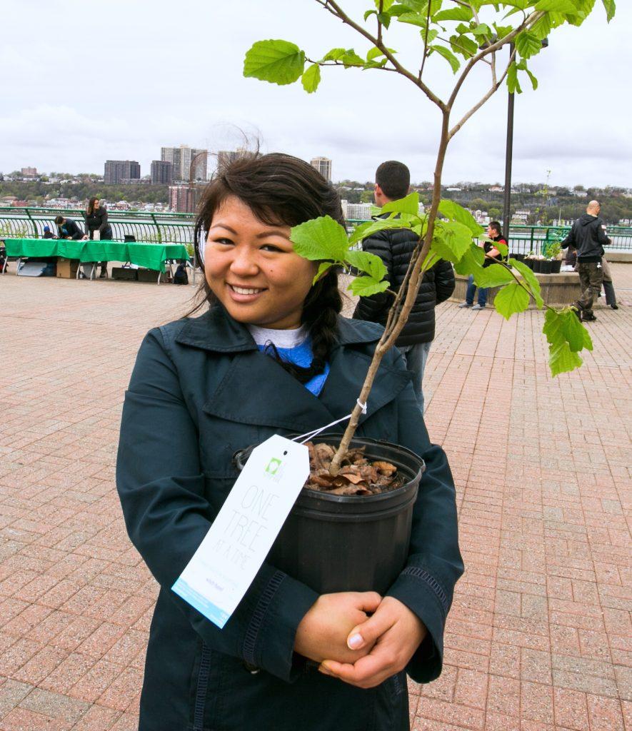 tree giveaway recipient